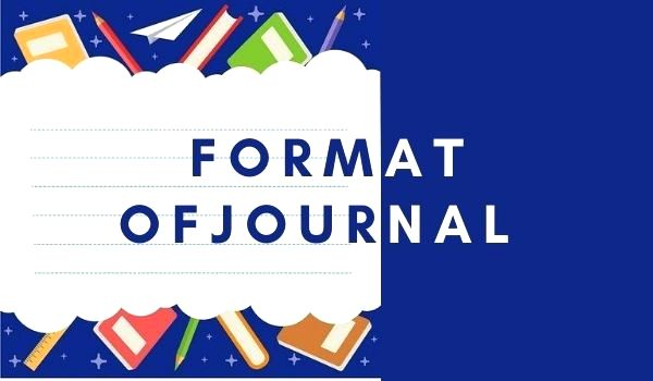 Format Of Journal Entries